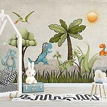 Tapete 3D WandbildCartoon dinosaurier kinderzimmer