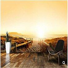 Tapete, 3D Wandbilder, Sanddünen Sonnenuntergang