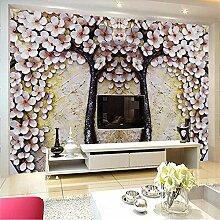 Tapete, 3D Wandgemälde, Hd Blumenrelief