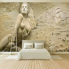 Tapete, 3D-Wandgemälde, Hd-Stereo-Relief-Surfen,