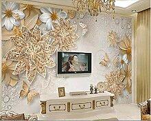 Tapete 3D Wohnzimmer Tapete Luxus Gold Ornamente