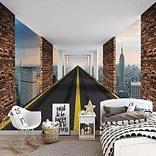 Tapete 3D ZZZXX Gebäude Mit Fester Geometrie