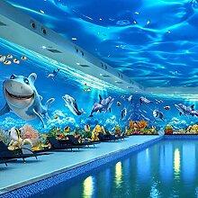 Tapete 5D Ozean Unterwasserwelt Spielplatz Cartoon