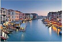 Tapete Abendstimmung auf Canal Grande in Venedig
