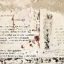 Tapete Alte Betonwand mit Bertolt Brecht Versen