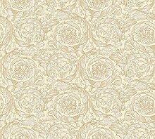 Tapete Barocco Flowers - creme - goldfarben -