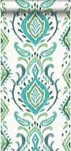 Tapete Barockmuster Grün - 148647 - von