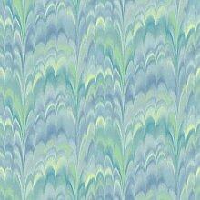 Tapete Batik türkis, 53cmx10,05m, Papier