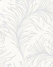 Tapete Beige Floral - Blatt, Blätter, Pflanze,