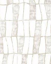 Tapete Beige Grafisch für Schlafzimmer Wohnzimmer