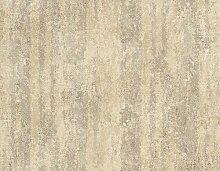 Tapete Beige und Schlamm mit Textur abstrakt beige