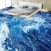 Tapete Benutzerdefinierte Boden Tapete 3D Sea Wave