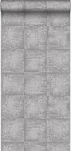 Tapete Beton-Optik Grau - 138203 - von ESTAhome.nl