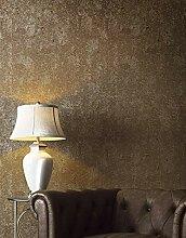Tapete Betonoptik Gold Braun Metallic Industrial