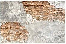 Tapete Betonoptik - Shabby Backstein Wand - Vlies