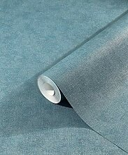 Tapete Blau Grün Petrol Pastelltöne Uni Modern