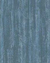 Tapete Blau Uni für Schlafzimmer Wohnzimmer oder