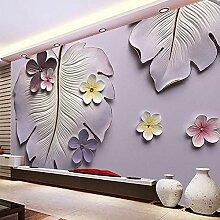 Tapete Blume Relief Bananenbaum Wohnzimmer Tv