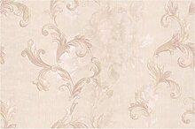 Tapete Blumen Elfenbein mit Reflexionen von Licht Pink mit Textur Effekt Leinen mit Relief. Domina 8824