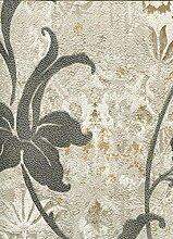 Tapete Blumen mit Glitter gold und Blumen Vines