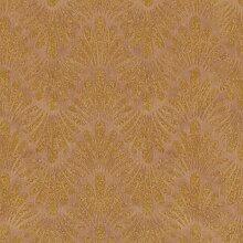 Tapete Braun Beige Ornamental für Schlafzimmer