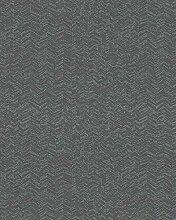 Tapete Braun Silber Grafisch für Schlafzimmer