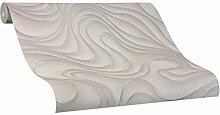Tapete Braun Welle Geschwungen Linien Ovale Colani