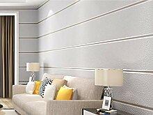 Tapete Breite Streifen-Hellgrau Moderne