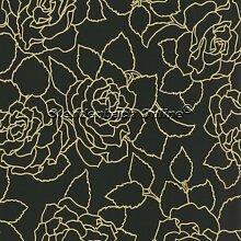 Tapete Brocante Floral Rose Design auf Vlies