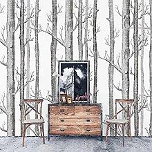 Tapete by Natur Birke Baum Wald Holz Vliestapete Wandbilder, PVC frei Fine Decor, 0.53m*10m