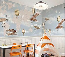 Tapete Cartoon Flugzeug Zimmer, Kinderzimmer,