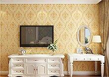 Tapete Damaskus Blume-Goldene Moderne Vliestapete