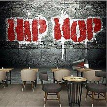 Tapete dekorativer nostalgischer Hip-Hop-Graffiti