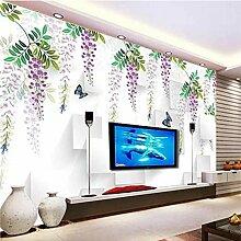 Tapete der handgemalten Blumen 3D für Wände
