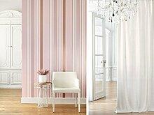 Tapete Design Streifen zart rosa mit goldenen Streifen Alternate glänzend. Edison edn80644212