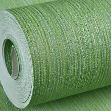 Tapete-Dick Wasserdicht vertikal gestreifte Tapete Tapete 10X 0,53 M, grün