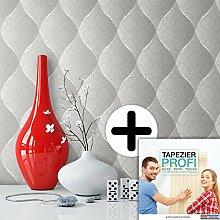 Tapete Edel Vinyl in Grau , schönes Floral Design