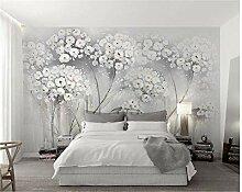 Tapete, elegant, ästhetische Gemälde, Blumen,