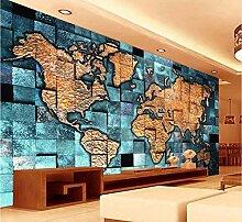 Tapete Europäischen Stil 3D Weltkarte Fototapete