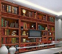 Tapete Experten Bücherregal im Wohnzimmer