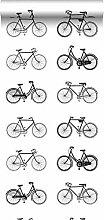 Tapete Fahrräder Weiß und Schwarz - 138523 - von