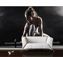 Tapete Fitness Hanteln Hintergrund Wand 3D Tapete