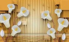 Tapete Flower Butterfly 3D Wandbilder Für