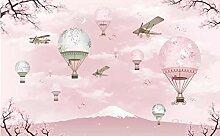 Tapete Foto Wandbild Persönlichkeit rosa Cartoon