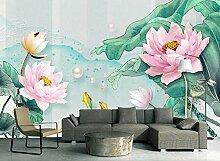 Tapete Fototapete 3D Effekt Aquarellblumen