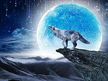 Tapete Fototapete 3D Effekt Blue Moon