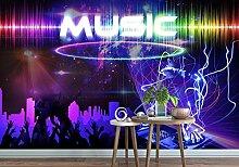Tapete Fototapete 3D Effekt Coole Dj Music Bar Ktv