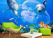 Tapete Fototapete 3D Effekt Delphinhai