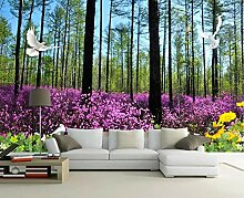 Tapete Fototapete 3D Effekt Dschungel Blumen
