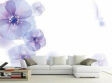 Tapete Fototapete 3D Effekt Fantasie Lila Blumen